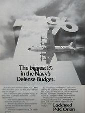 7/1980 PUB LOCKHEED P-3C ORION US NAVY ASW MPA MARITIME PATROL AIRCRAFT AD