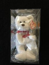 """Ty Beanie Baby """"Valentino"""" Bear with NO Stamp, Brown Nose And Tag Errors   Nice"""