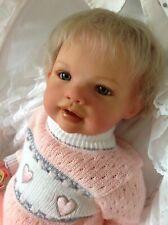 Reborn Caitlin Jannie De Lange Exquisite Collectors Doll Mouthblown  Glass Eyes