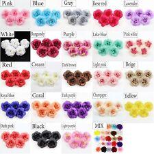 20Pcs 4.5cm DIY Artificial Camellia Rose Flower Head Wedding Decor Accessories