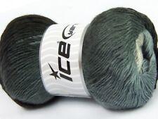 Primadonna Gray Shades Ice 40621 Fine Baby Self-Striping Wool Acrylic Yarn 100g