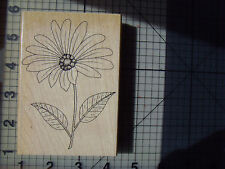 "Penny Black Wood mounted rubber Stamp Floral ""Cheerful"" watercolour,emboss"