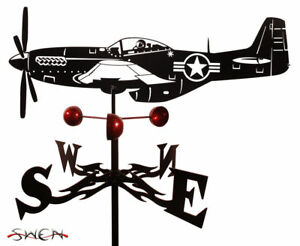 SWEN Products Farrell Series P51 MUSTANG AIRPLANE Steel Weathervane