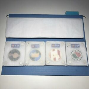 5 Sealed LEGO VIP Collectible Coins & DISPLAY CASE, SPACE, CASTLE, PIRATES OCTAN