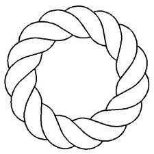"""4""""  Rope Wreath Stencil by QCI - 0731 - Painting - Art - Crafts"""
