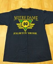 Vintage Notre Dame Cotton Blue T Shirt XL Fighting Irish fearless by choice EUC