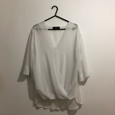 AX Paris White Sheer Blouse Size 8