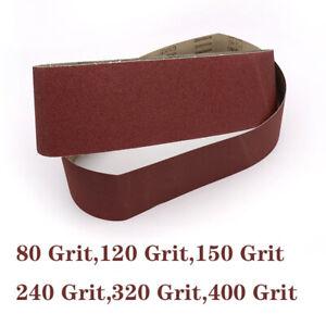 100x915mm File Sanding Belts - 80,120,150,240,320,400 Grit Abrasive Belt Sander