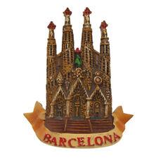 3D Resin Souvenir Spain Barcelona Tourist  Fridge Magnet Decorative Travel Gift