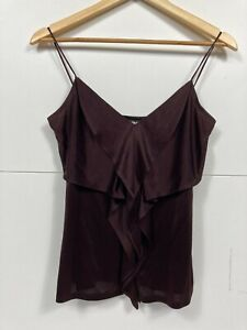 DKNY Ladies Brown Strappy Cami Evening Top size S  A24