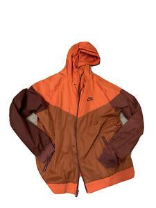nike windrunner jacket mens large L orange