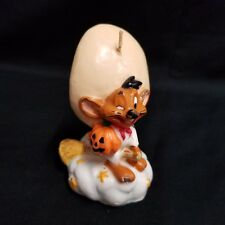Vintage Speedy Gonzales Halloween Candle Looney Tunes Mouse Jack O Lantern Broom