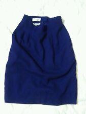 purple wool skirt, talbots petite, two pockets