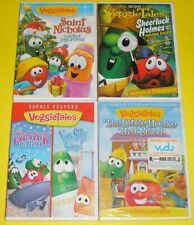 VeggieTales DVD Lot - Saint Nicolas Sheerluck Holmes Silly Songs Little House