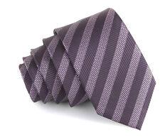 New purple stripe microfiber skinny hipster tie