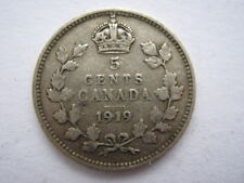 Canada 1919 argent 5 cents GF