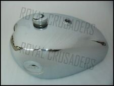 NEW BSA CHROMED A7 A10 PETROL TANK WITH FILLER CAP AND TAPS (CODE432)