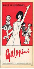 PUBLICITE  1966   GALOPINS    salut le printemps pret à porter enfant