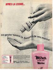 PUBLICITE ADVERTISING   1965   MIXA   cosmétiques creme pour les mains