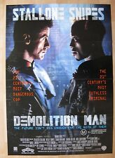 DEMOLITION MAN '93 Orig Australian movie poster Sylvester Stallone Wesley Snipes