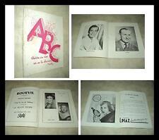BOURVIL GEORGES GUETARY ANNIE CORDY PROGRAMME DE THEATRE LA ROUTE FLEURIE 1953