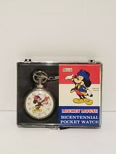 Mickey Mouse Bradley Time Bicentennial Pocket Watch 1976 Limited Edition Disney