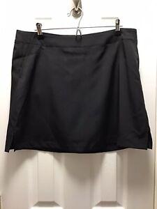 Lady Hagen Essentials NWT Womens Black Golf Tennis Skort Skirt