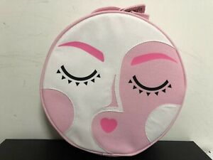 Benefit 2020 Brow Skincare Makeup Beauty Round Gift Travel Fabric Bag Pink
