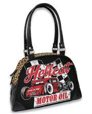 Hotrod Hellcat Damen MOTOROIL leo Handtasche/Bowling Bags.Tattoo,Biker,Pin up