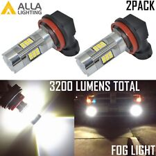 Alla Lighting 3200lm 6000K 27-LED H8 Fog Light Driving Bulbs Lamps Xenon White