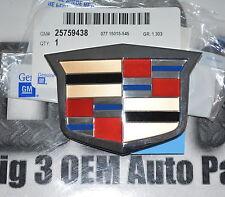 Cadillac Escalade ESV EXT DTS Front Grille Chrome Crest Emblem new OEM 25759438