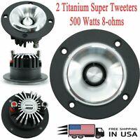 "2 x  Audiotek 3.25"" 500W Car Audio Pro Heavy Duty Titanium Super Tweeter 1 pair"