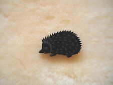 NEW acrylic hedgehog brooch badge hand made, animal lovers, black laser engraved