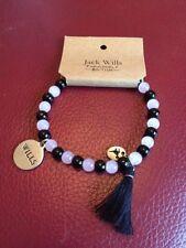 Jack Wills Beaded Navy & Pink Bracelet