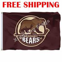 Hershey Bears Logo Flag AHL American Hockey League 2018 Banner 3X5 ft