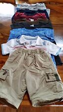 BOY 6-7 LOT OF TOPS & 1 PAIR SHORTS, COTTON BLEND, MULTI COLOR, FADED GLORY,CHER