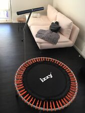 Fitness Mini Trampolin mit Haltestange, 100cm, 100 kg, Gummizug, Profi Modell