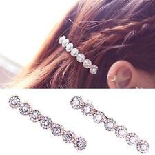 Women Hairpin Pearl Rhinestone Hair Clip Barrette Ball Headwear Jewelry Home