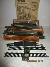 "VTG Lot of 54 Tyco HO Scale Steel Train Tracks Straight/Curved 9""/Signals NOS"