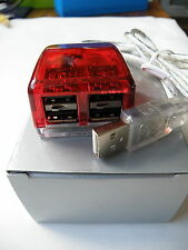 USB 1.0 4 port compact Hub Blue. New and boxed Free Postage
