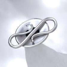 STERNSAPHIR S-Haken 27mm SILBER 925 Verschluss Kette Armband silver starsapphire