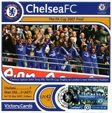 CHELSEA 2006-07 Man United (FA Cup Final) Football Stamp Victory Card #642