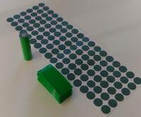108 pcs Pre-Cut 18650 Insulator and ELECTRIC GREEN PVC Shrink Wrap Vape ebike