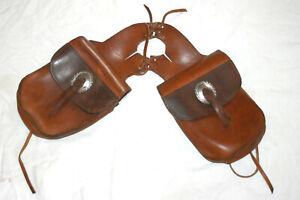 Packtasche, Westernsatteltasche, Hornpacktasche, echtes Leder, braun, vorne