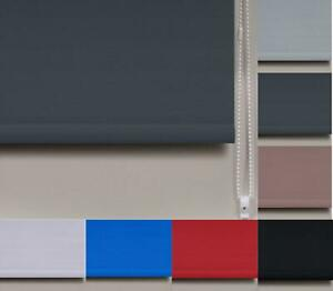 Classic Straight Edge Plain Roller Blinds Easy To Fit - 5 Widths - 8 Colours