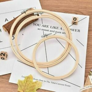 Bamboo Wooden Embroidery Hoop Rings for DIY Cross Stitch Needle Craft Tools UK
