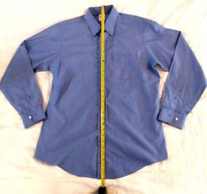 Brooks Brothers Regent Non-Iron Solid Blue Button Up All Cotton Size 16-4/5