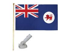 New listing 5' Wooden Flag Pole Kit W/ Nylon White Bracket 3x5 Tasmania Polyester Flag