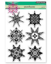New Penny Black SNOWBURSTS Clear Stamp Christmas Holidays Snowflakes Winter Snow