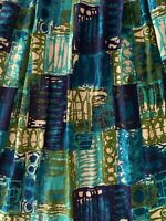 Rare Pair Vintage 60s Abstract Brutalist Curtains Mid Century Modern Atomic Era